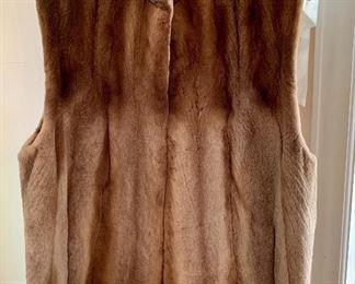 Authentic fur vest