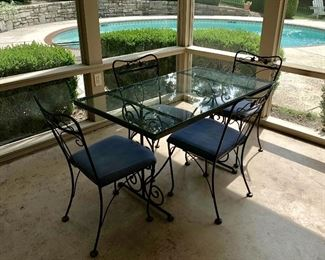 Wrought Iron Table and with 4 chairs