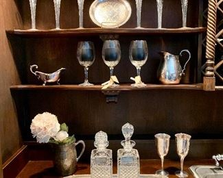 Beautiful Decanters and goblets make a beautiful display or even better when used!