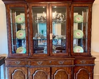 Gorgeous lighted Dining Hutch by Hooker.