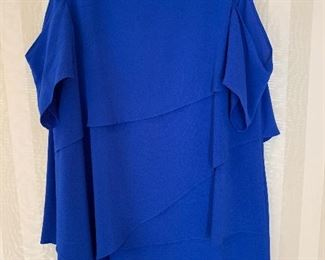 Cold shoulder layered beautiful blue dress