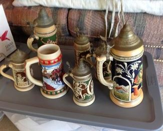 Beer Steins.   Some are very old.