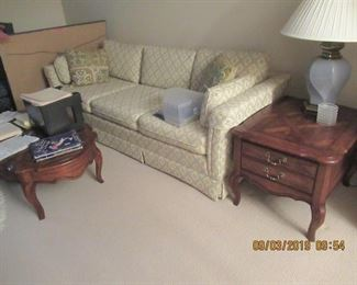 sofa, end and side table