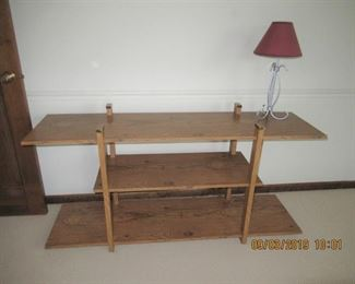 another shelving unit, this was so 60's for the stereo and speakers