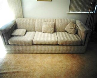 Sofa with matching pillows