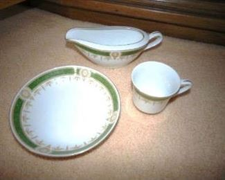 China set with serving pieces