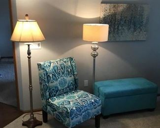 Chair and Ottoman Storage