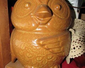 McCoy pottery owl cookie jar