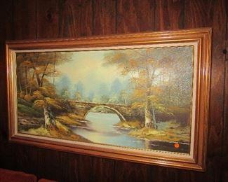 more original oils   plus lots of other framed art