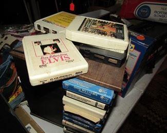 vintage 8 track tapes