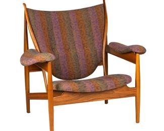 Finn Juhl (Danish, 1912-1989) Iconic Chieftain Chair. Denmark. Designed 1949. Baker Furniture. Literature: Finn Juhl: Furniture, Architecture, Applied Art, Hiort, ppg. 40-41 Danish Chairs, Oda ppg. 92-93