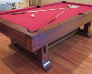 Brunswick pool table (hiring experienced pool table movers highly recommended)