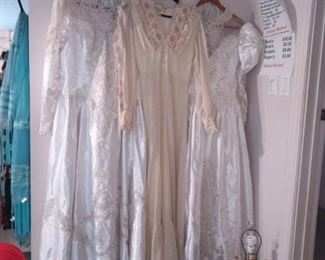 Old wedding dresses $20 each