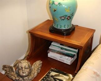 Side Table , Lamp and Decorative