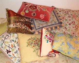 Variety of Decorative Pillows