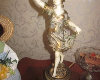 Vintage Mythology Figural Lighting Pair