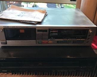Teac cassette deck Sony C.D. player