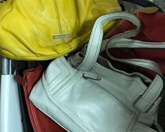 Leather designer purses