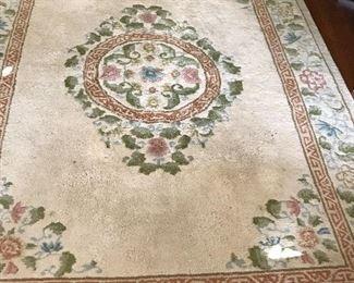 Wool dining room rug