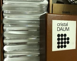 Signed Daum knife rests