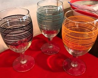 3 ccrazy cool Fiesta ware water goblets