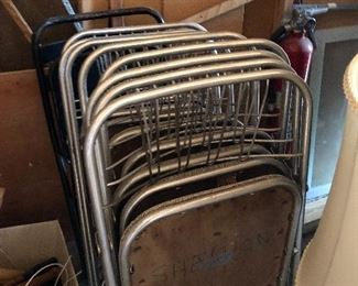 Loads of vintage folding chairs