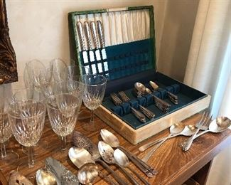 Silver plate and crystal what more do you need for the holidays
