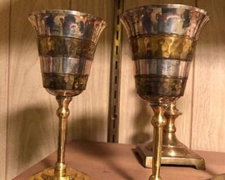 Silver plate goblets