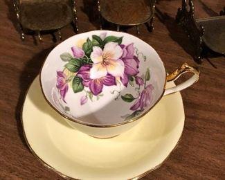 Clarence Bone China Tea cup and saucer