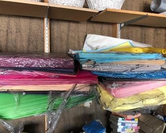 Party store closeout, loads of tissue paper