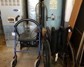 Wheel chair and walker