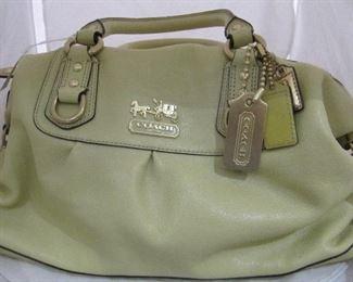 Coach handbag green