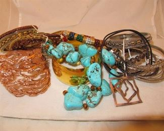 Bangles and necklaces