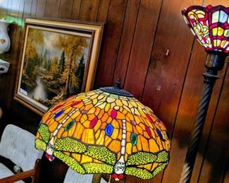Dragonfly lamp has sold, two other floor and two table left