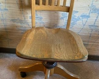 Vintage oak office chairs