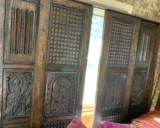 Salvaged sliding door or room divider