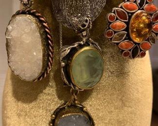 Sterling silver artisan pendants