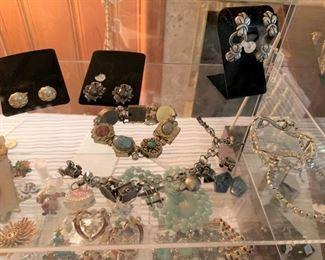 Vintage charm bracelet and slide bracelet