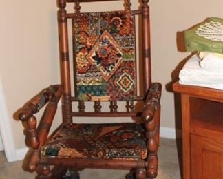 Embroidered rocking chair