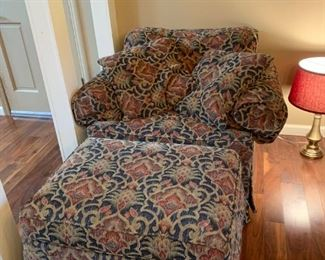 #2		Henredon Chair w/ottoman - as is	 $65.00
