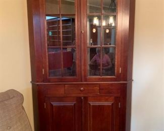 #3		Corner China/display Cabinets w/1 drawer & 2 door  36x48x83 dovetailed  $ 200 each