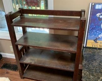 #8		Hoememade Solid Wood shelf bookcase 29x12x30	 $125.00