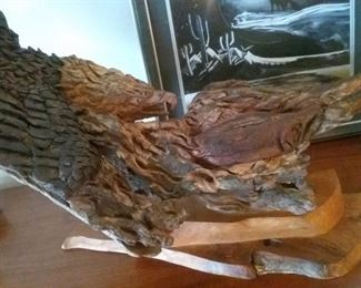 Large bark and root carving