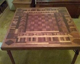Antique inlaid/parquet gametable