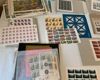 100 or So Pages of Stamps