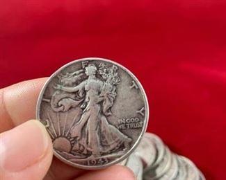 Lady Liberty Silver Half Dollars