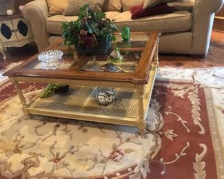 Hand Painted Vintage Coffee Table