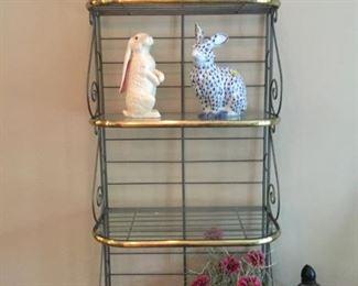 small, slender French baker's rack