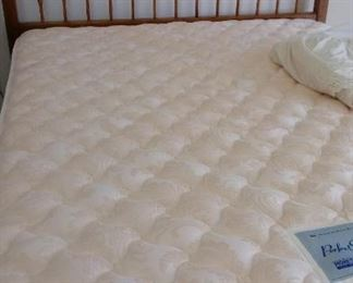 Queen mattress and frame, sold separate