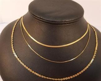 Three 14 K Gold Necklaces https://ctbids.com/#!/description/share/233693